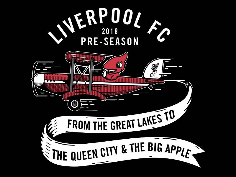 LFC - Tour Tee merch tee banner football soccer liverpool plane mascot biplane lfc