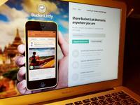 BucketListly iPhone Landing Page