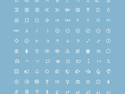 Flat Line Icons Webfont Freebie icons icon font font webfont freebie vector eps free download flat flat ui bootstrap