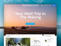 Traveling App Landing Page