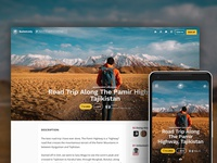 Full Bleed Background Page Layout for BucketListly blog travel hero responsive ui web layout photo landing page