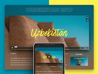 BucketListly Blog Video Page Immersive Design layout ui colorful background landing page immersive videos