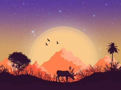 Flat Landscape Art painting manipulation brushes drawing flatirons illustration illustrator ideas digital art digital