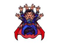 Dr. Strange Timelapse mascot character mascot design mascot drawing procreate digital timelapse hero superhero marvel design character cartoon caricature