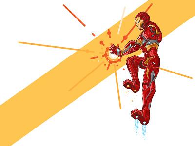 Iron Man mark suit captain-america civil-war vector character marvel iron-man