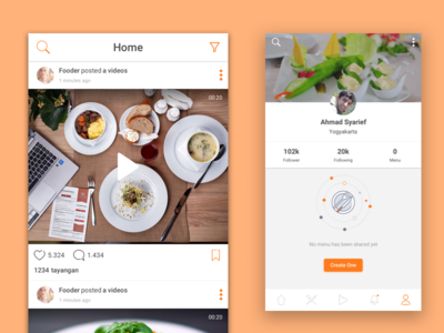 Foodeoo User Profile Apps