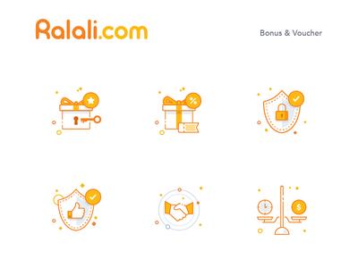 Ralali Illustration Icon Bonus & Voucher