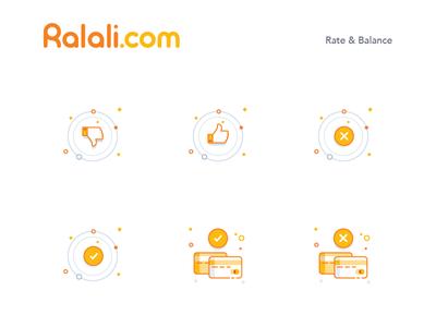 Ralali Illustration Icon Rate & Balance