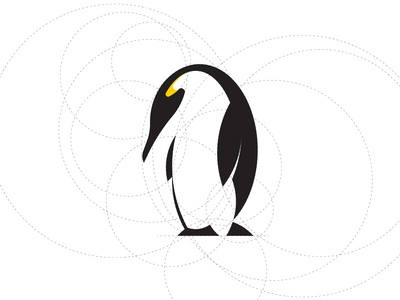 Pinguin Logo Design Using Circles` circle design circle grid logo logosketch logo design concept iconic icons abstract design illustration design icon vector mark logo design logo