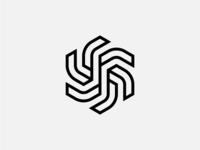 Dynamic Shape Design symbolic logo iconic logo geometrical shapes geometrical geometric line solid dynamic logo dynamic symbolism symbol icon logodesign shape logo design logo