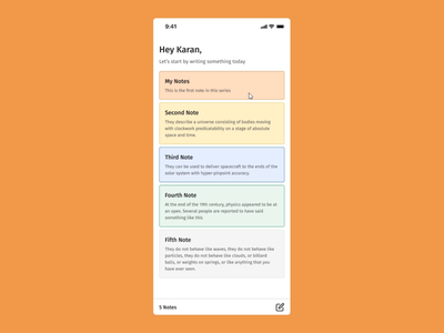 Notes App Interaction in Figma smartanimate draganimation notes figmadesign figma ui design animation after effects