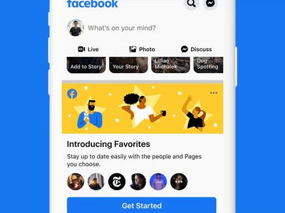 Facebook Favorites motion after effects animation mobile star favorite people sketch ui branding illustration