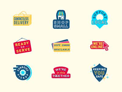 Facebook Ads COVID Stickers stickerspub branding covid ads design stickers ads illustration