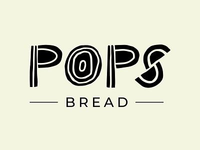Pops Bread Logo bakery dough sourdough branding bread logo