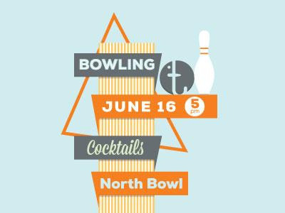 Bowling Night bowling illustration orange blue
