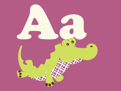 Alligator alligator gator illustration a alphabet