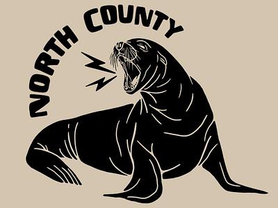 North County San Diego wildlife san diego california seal sea lion illustration