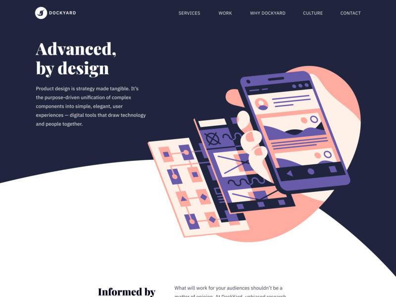 DockYard Product Design product design mobile ui mobile app progressive web apps pwa mobile illustration design