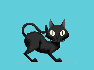 Jiji eyes black cat cat illustration