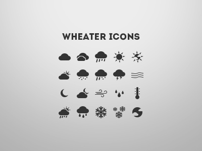 Weather Icons icons wheater glyphs custom shapes weather