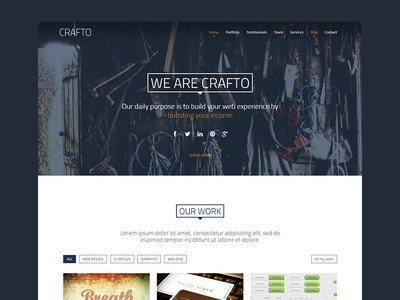 Crafto one-page bootstrap parallax