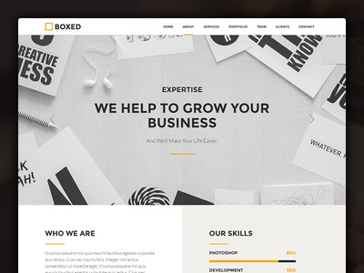 BOXED - website template web-design bootstrap template website