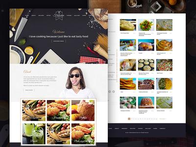 Freelance Chef website web-design food chef cooking website