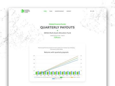 Financial website UI user interface webdesigner financial webdesign ui