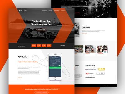 Raceunion  - Racing mobile app mobile app ui inspiration user interface artwork graphic design orange raging webdesigner webdesign ui