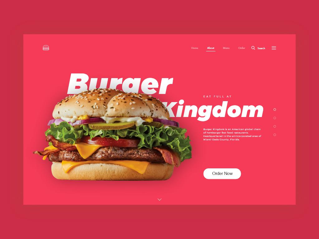 Burger Kingdom Landing Page