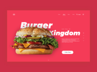Burger Kingdom Landing Page