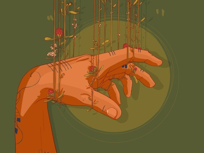 Hanging hand procreate design digital art digital art digital painting drawing digital illustration illustration