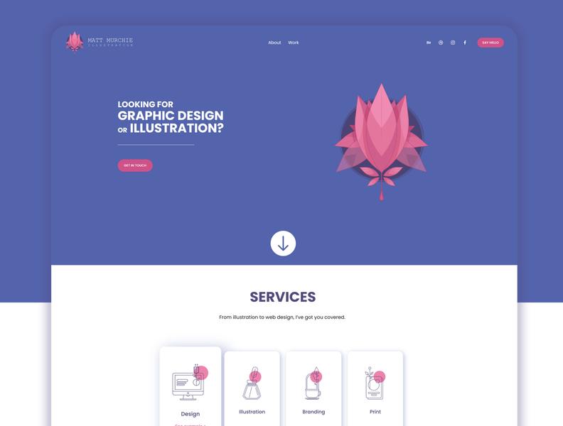 Personal website webdesign website ux branding illustration design ui