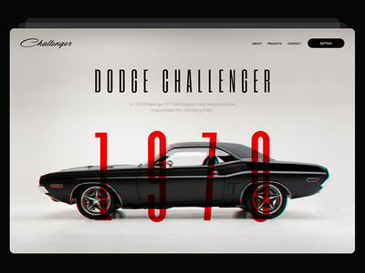 Dodge Chellenger interactivearts kosov landing ux ui website challenger dodge header cover