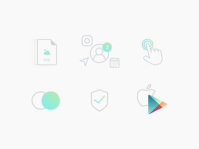 Icons ui clean minimal google apple kosov interactivearts icon