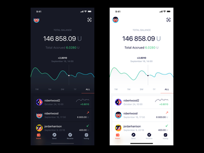 Mobile Wallet for Cryptocurrency wallet eos gravity blockchain crypto bitcoin cryptocurrency ios app mobile dashboard pavelkosov