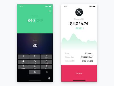 Cryptocurrency Portfolio Tracker ux kosov mobile ios blockchain cryptocurrency ui remove xrp ripple amount cost