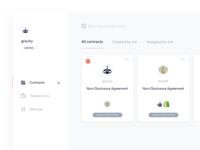 Dashboard design for contracts