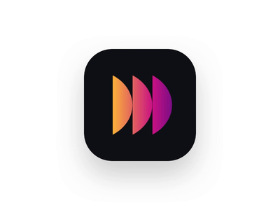 DataLight icon icon animation motion principle video gif gradient datalight branding logo app ios cryptocurrency blockchain mobile product minimal