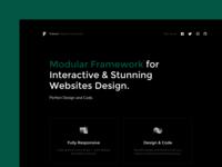 Modular framework for Interactive and stunning websites design.