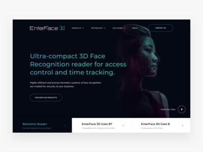 EnterFace 3D Website Design