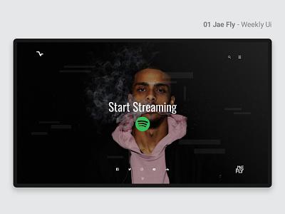 01 Jae Fly - Weekly Ui music website music weekly challenge weeklyui weekly ui website concept concept webdesign web ui deisgn