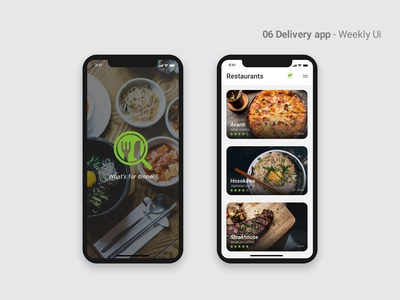 06 Delivery App - Weekly Ui