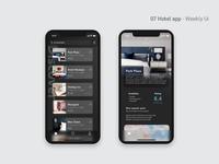 07 Hotel App - Weekly Ui