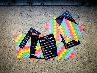 OpenTable Design Principles Cards print script vintage circles postcards blackboard icons colorful rainbow cards retro opentable