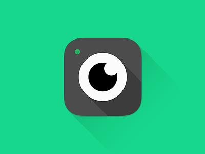 Foodspotting iOS7 app icon foodspotting ios7 app-icon ios7-icon icon green emerald eye camera food spot