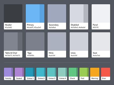 OpenTable Guest Center color palette color color palette palette opentable guest center style guide swatches pantone