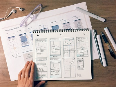 OpenTable consumer iOS app wireframes desk iphone mobile ios ideas wireframe opentable sketch ux flow sketchbook process
