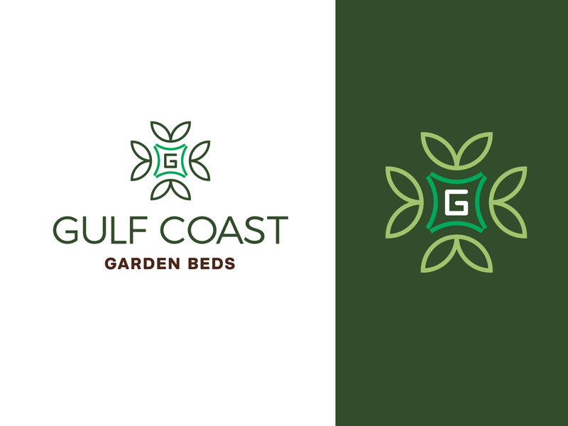 Gulf Coast Garden Beds Logo flowers garden graphic design brand design identitydesign vector identity branding logodesign logo