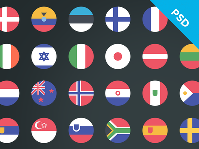 Country flags - Retail Loyalty Congress 2015 free psd freebie country flag icon